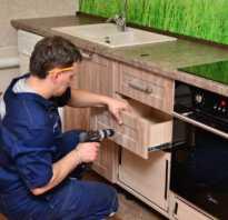 Как собрать горизонтальный кухонный шкаф?