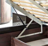 Как крепить подъемный механизм к кровати?