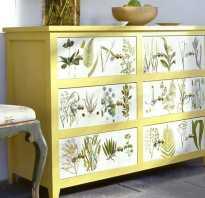 Как можно преобразить старую мебель?