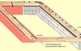 Как крепить мауэрлат к кирпичной стене