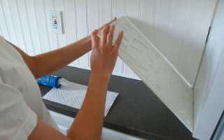 Как клеить пластиковые панели на стену