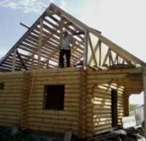 Как сделать крышу у бани?